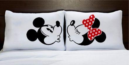 Fronhas Casal Personalizadas Minnie e Mickey