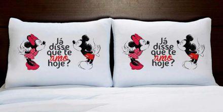 Fronhas Casal Personalizadas Minnie e Mickey Já Disse Que Te Amo Hoje?
