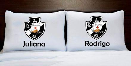 Fronhas Casal Personalizadas Vasco Times de Futebol