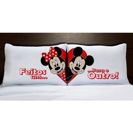 Fronhas Mickey e Minnie Feitos Um Para o Outro