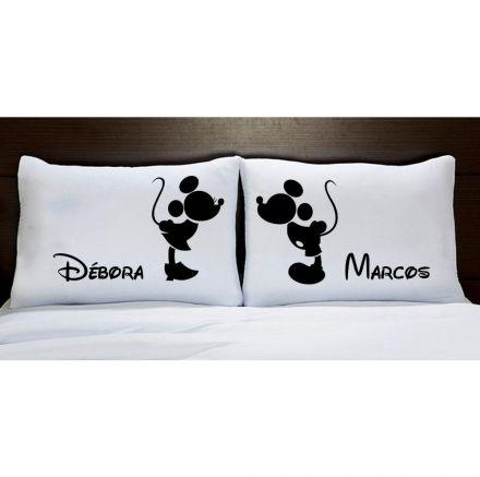 Fronhas Mickey e Minnie Preto