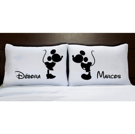 Fronhas Mickey e Minnie Preto