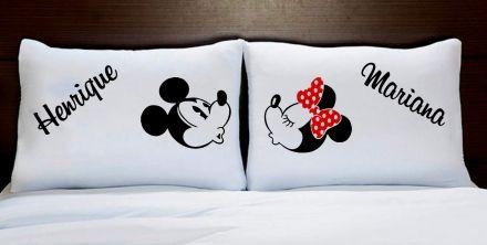 Fronhas Minnie e Mickey Personalizadas