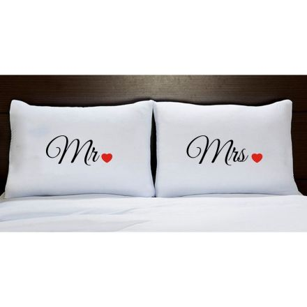 Fronhas Mr & Mrs