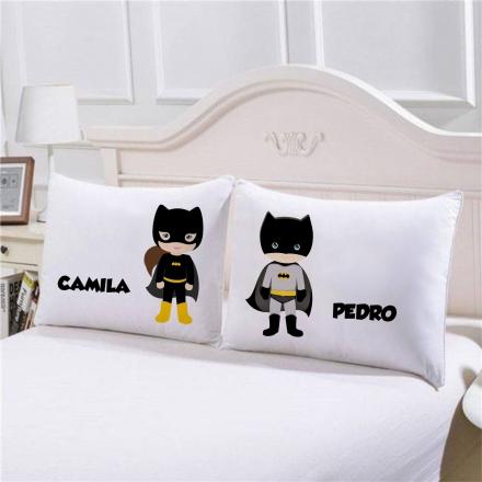 Fronhas Mulher Maravilha e Batman Personalizadas