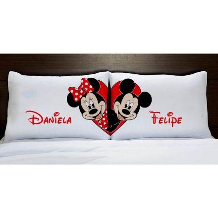 Fronhas Personalizadas Mickey e Minnie