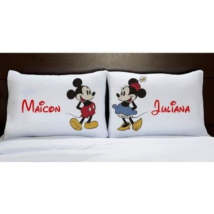 Fronhas Personalizadas Mickey e Minnie Vintage
