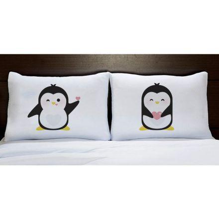 Fronhas Pinguins Coração