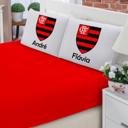 Jogo de Cama Casal Personalizado Flamengo 3 Peças FR1006