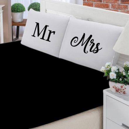 Jogo de Cama Casal Personalizado Mr e Mrs 3 Peças FR1044
