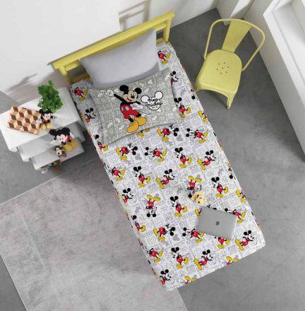 Jogo de Cama Solteiro Mickey Fun - 2 Peças