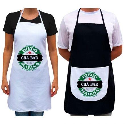 Kit Avental Personalizado Para Casal Chá Bar Heineken