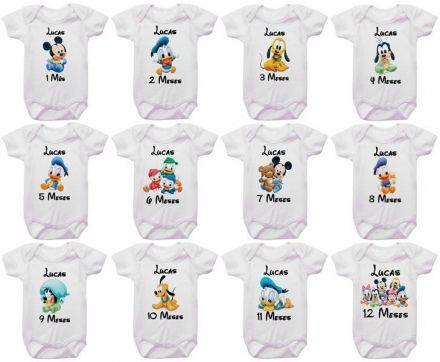 Kit Body Mesversario Disney Baby Personalizado