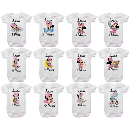 Kit Body Mesversario Minnie Baby Personalizado