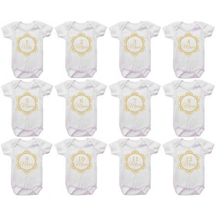 Kit Body Mesversario Monograma Personalizado