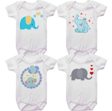 Kit Bodys Bebê Elefantinho