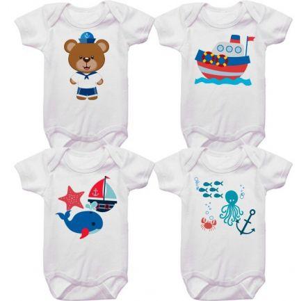 Kit Bodys Bebê Marinheiro