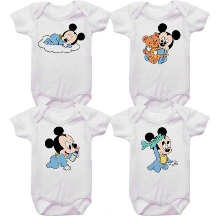 Kit Bodys Bebê Mickey Baby