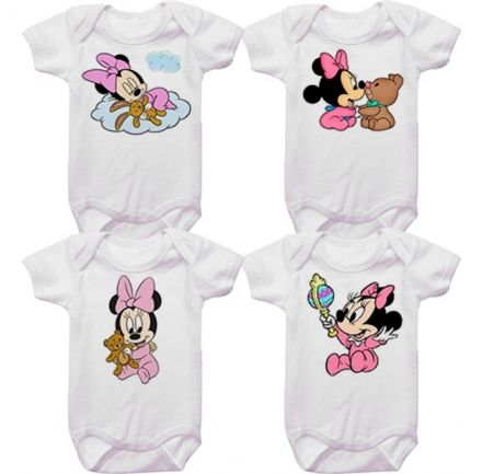 Kit Bodys Bebê Minnie Baby