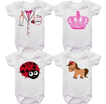Kit Bodys Bebê Tematico