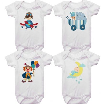 Kit Bodys para Bebê Tematico