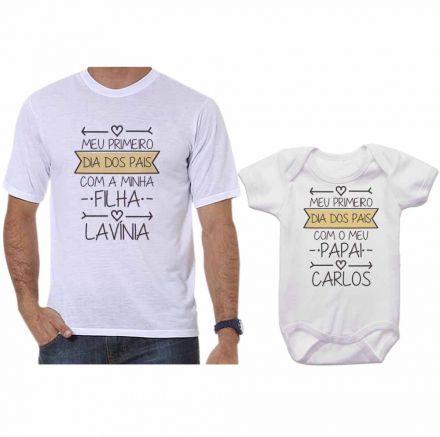 Kit Camiseta e Body Meu Primeiro Dia dos Pais CA0690