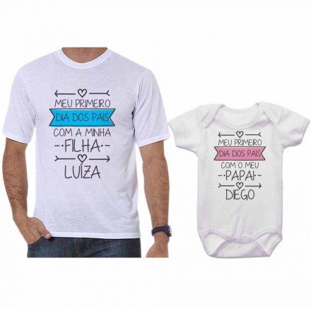 Kit Camiseta e Body Meu Primeiro Dia dos Pais CA0693