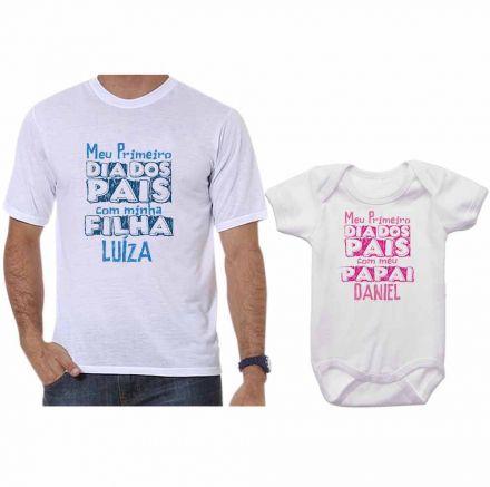 Kit Camiseta e Body Meu Primeiro Dia dos Pais CA0697