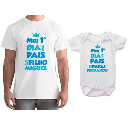Kit Camiseta e Body Meu Primeiro Dia dos Pais CA0700