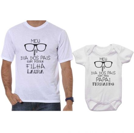 Kit Camiseta e Body Meu Primeiro Dia dos Pais CA0701