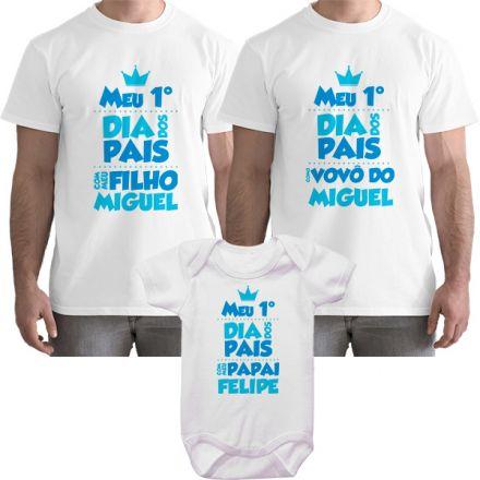Kit Camiseta e Body Meu Primeiro Dia dos Pais CA0703