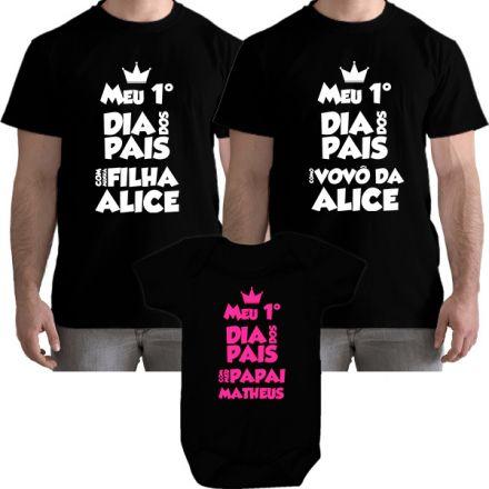 Kit Camiseta e Body Meu Primeiro Dia dos Pais CA0704
