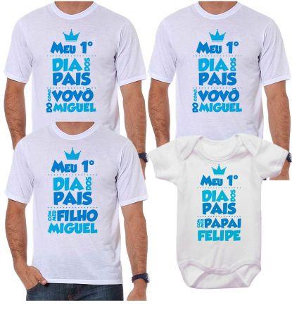 Kit Camiseta e Body Meu Primeiro Dia dos Pais CA0711