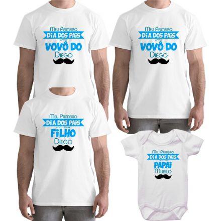 Kit Camiseta e Body Meu Primeiro Dia dos Pais CA0713