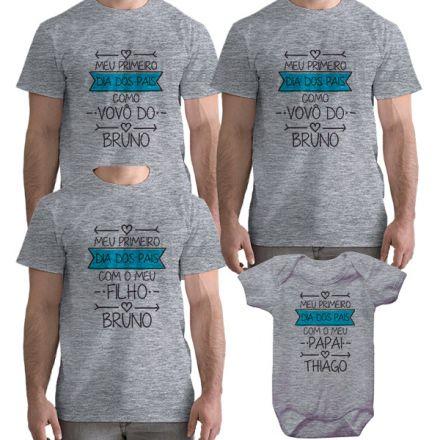Kit Camiseta e Body Meu Primeiro Dia dos Pais CA0715