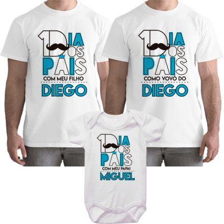 Kit Camiseta e Body Meu Primeiro Dia dos Pais CA0825