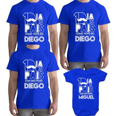 Kit Camiseta e Body Meu Primeiro Dia dos Pais CA0827