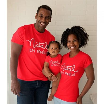 Kit Camiseta e Body Nosso Primeiro Natal - CA1075