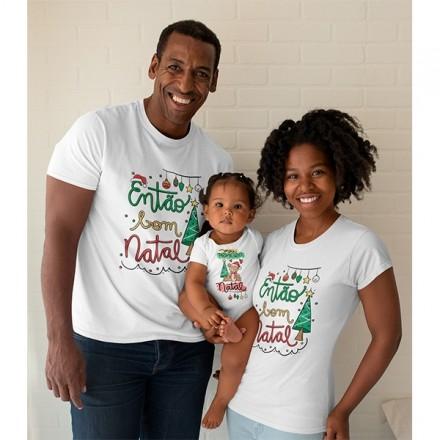 Kit Camiseta e Body Nosso Primeiro Natal - CA1078
