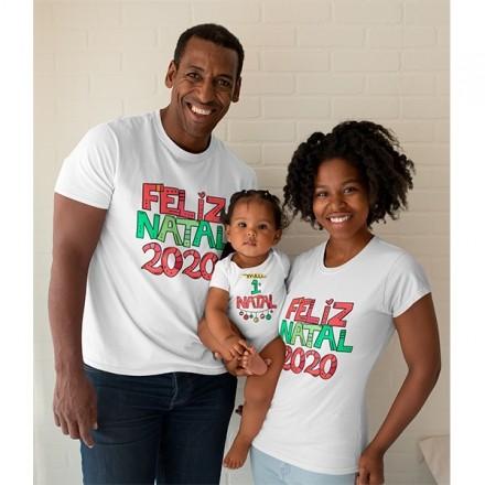 Kit Camiseta e Body Nosso Primeiro Natal - CA1080