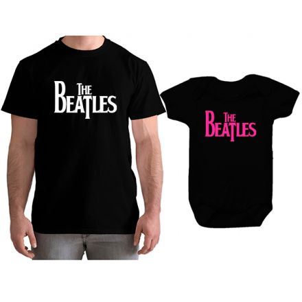 Kit Camiseta e Body Tal Pai Tal Filha The Beatles CA0855