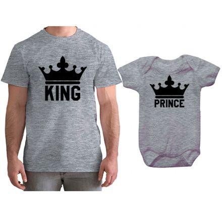 Kit Camiseta e Body Tal Pai Tal Filho King e Prince CA0747