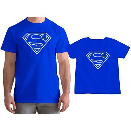 Kit Camiseta e Body Tal Pai Tal Filho Super Homem CA0758