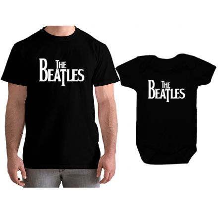 Kit Camiseta e Body Tal Pai Tal Filho The Beatles CA0841