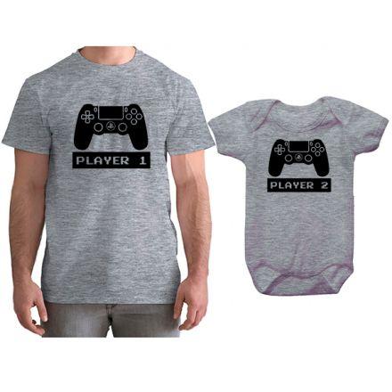 Kit Camiseta e Body Tal Pai Tal Filho VÍdeo Game PS4 CA0749