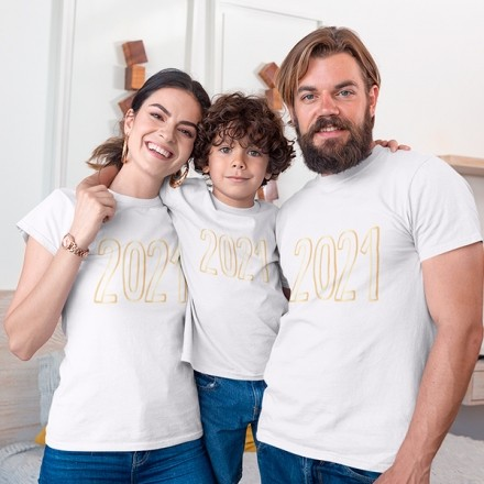 Kit Camiseta Família Ano Novo - 3 Peças - CA1110