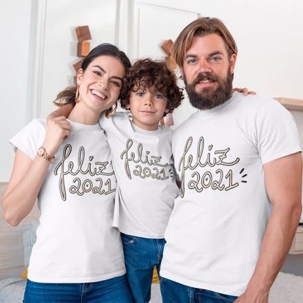 Kit Camiseta Família Ano Novo - 3 Peças - CA1112