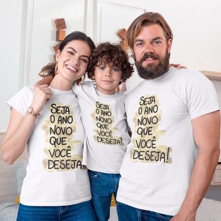 Kit Camiseta Família Ano Novo - 3 Peças - CA1115