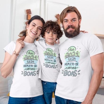 Kit Camiseta Família Ano Novo - 3 Peças - CA1118