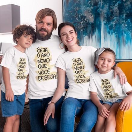 Kit Camiseta Família Ano Novo - 4 Peças - CA1103